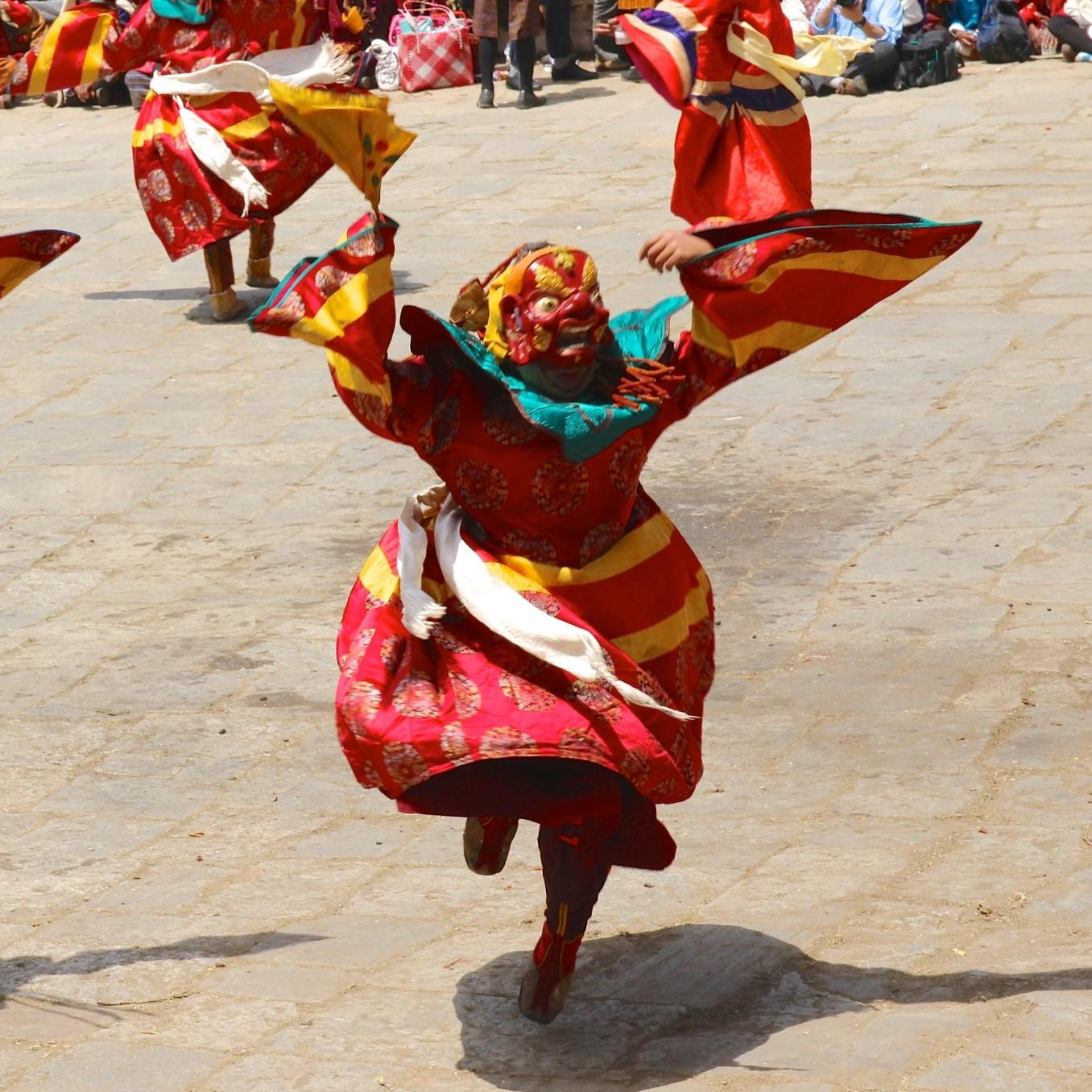 Bhoutan, danses, festival de Paro